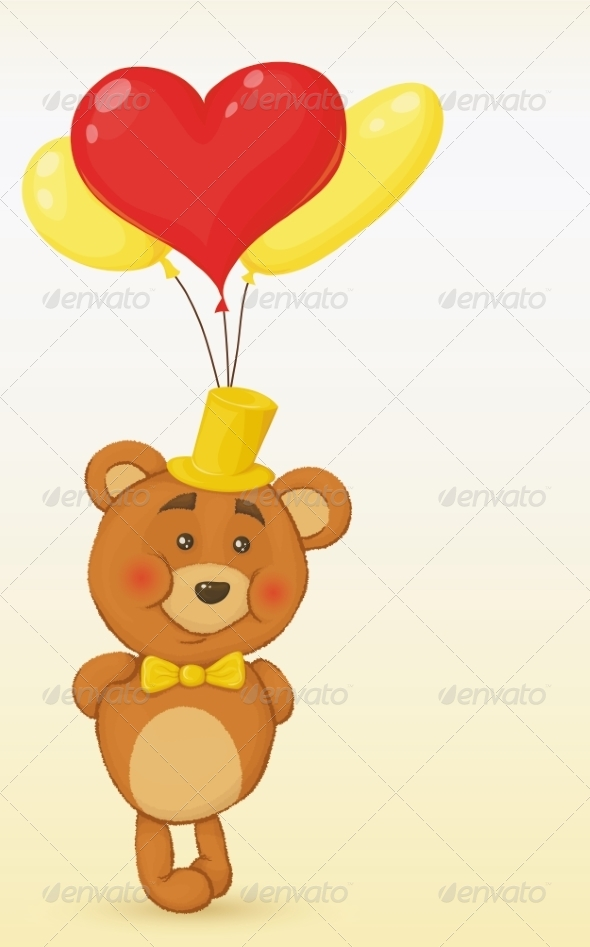 GraphicRiver Teddy Bear with Gift 8488830