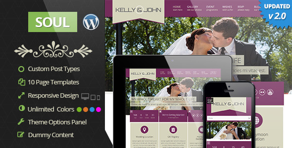 Soul - Responsive WordPress Wedding Theme - Wedding WordPress