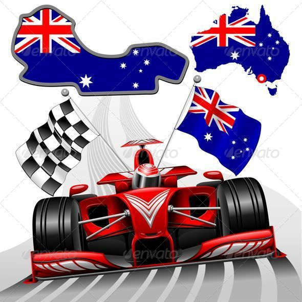 GraphicRiver Formula 1 Red Race Australian Car 8488876