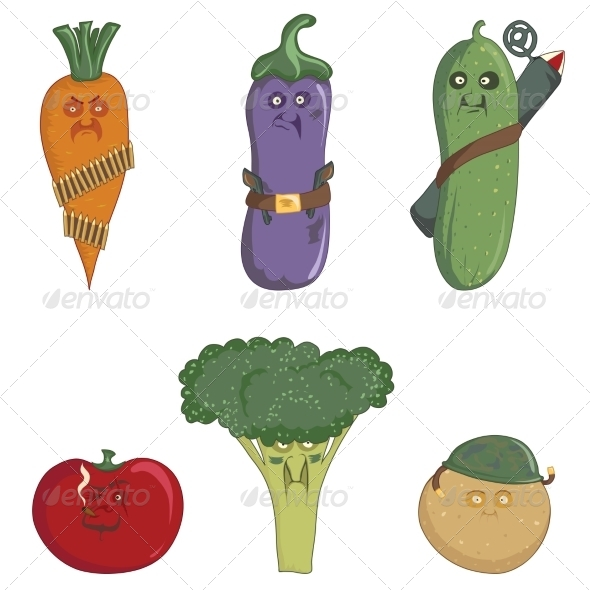 GraphicRiver Militant Vegetables 8488895