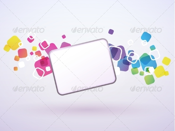 GraphicRiver Abstract Background of the Square 8488896