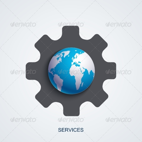 Vector Modern Service Background