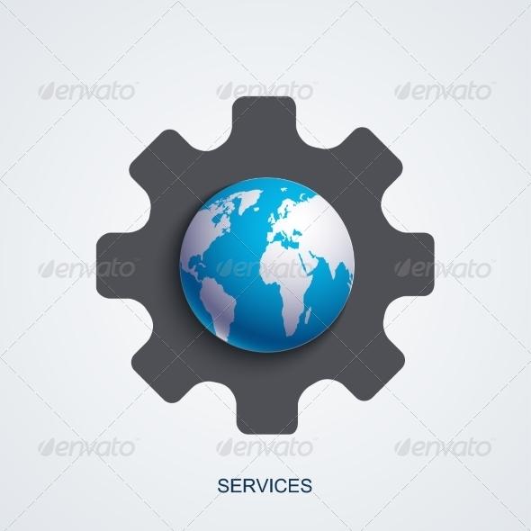 GraphicRiver Vector Modern Service Background 8488897