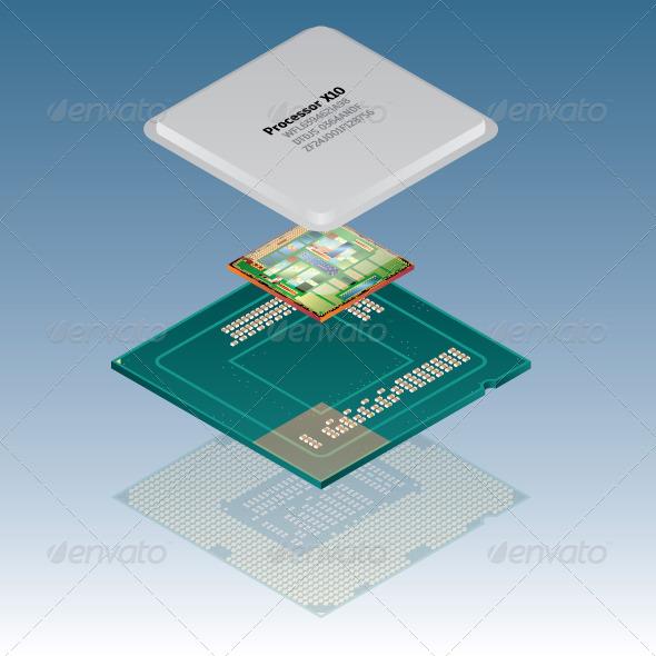 GraphicRiver Processor Parts 8488917