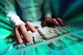 Typing at keyboard