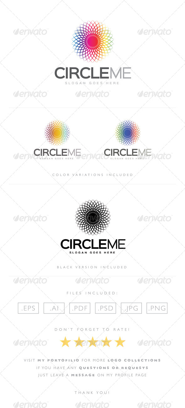 GraphicRiver Circle Me Logo 8489176