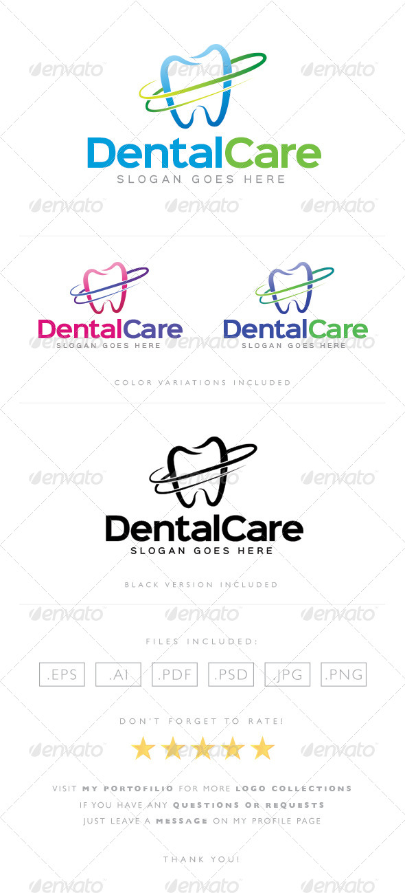 GraphicRiver Dental Care Logo 8489359