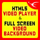 HTML5 Video Player & FullScreen Video Background - CodeCanyon Item for Sale