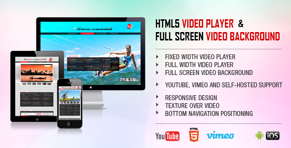 CodeCanyon HTML5 Video Player & FullScreen Video Background 8489365