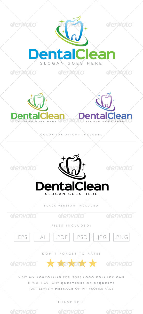 GraphicRiver Dental Clean Logo 8489369