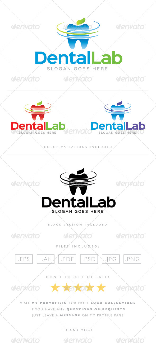 GraphicRiver Dental Lab Logo 8489375
