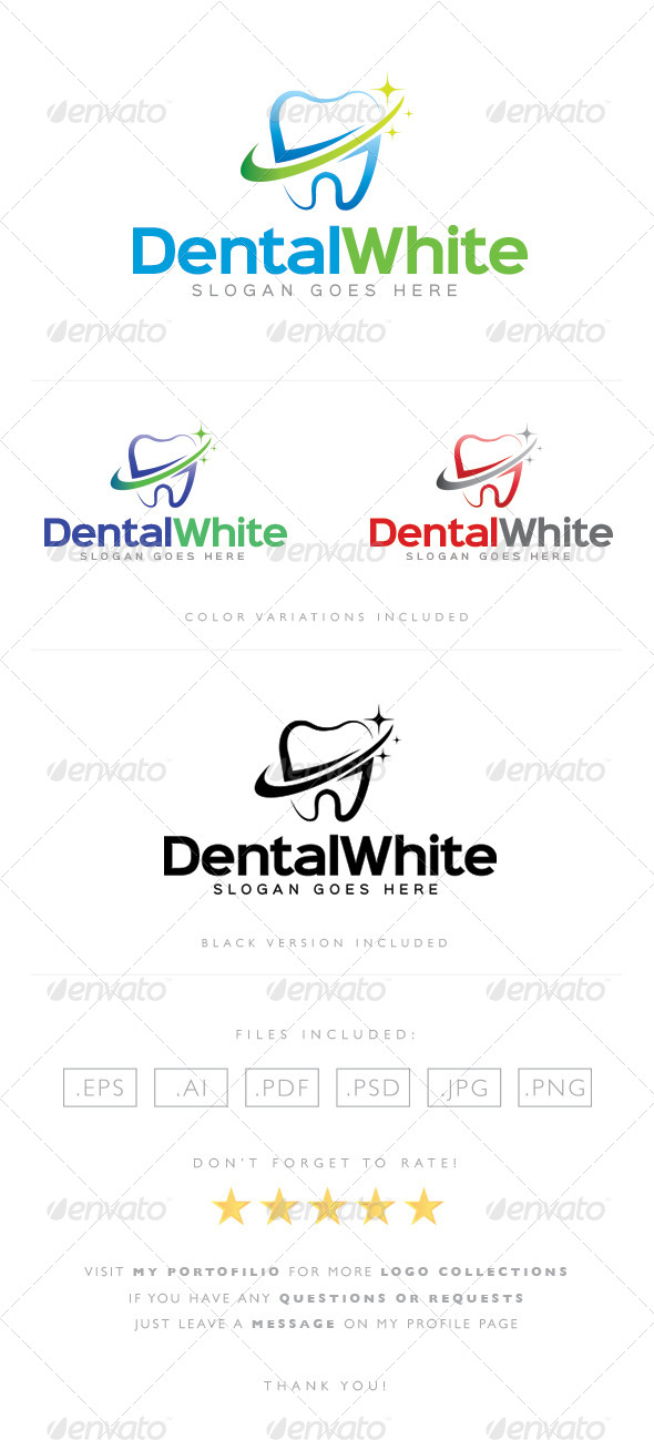 GraphicRiver Dental White Logo 8489388