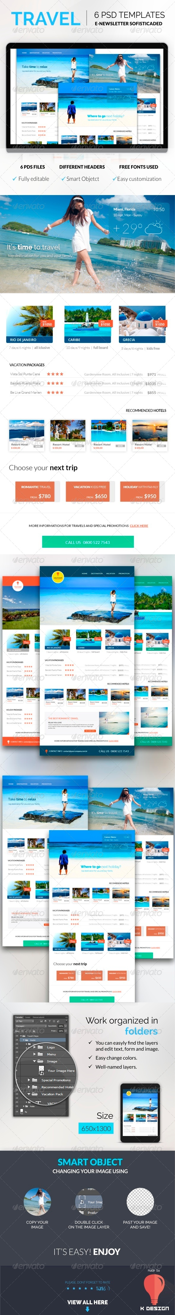 GraphicRiver Travel E-newsletter Template 8479183
