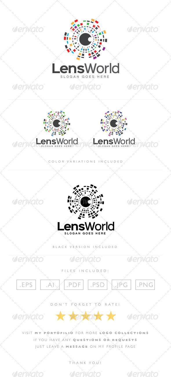 GraphicRiver Lens World Logo 8489417