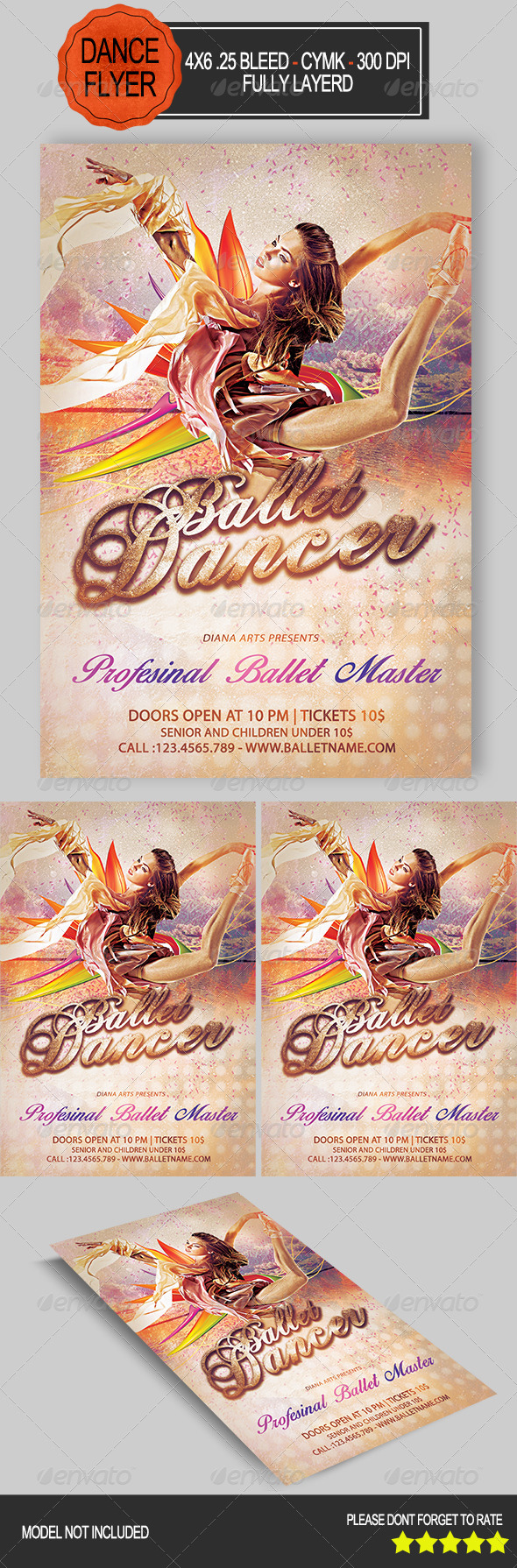 GraphicRiver Ballet Dancer Flyer 8489418