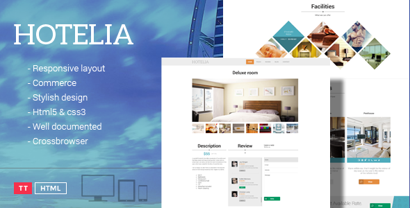 Hotelia - Responsive Hotel Theme - Travel Retail