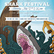 Shark Around Party Flyer - GraphicRiver Item for Sale