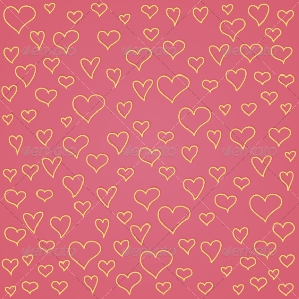 GraphicRiver Seamless Pattern with Hearts 8490497