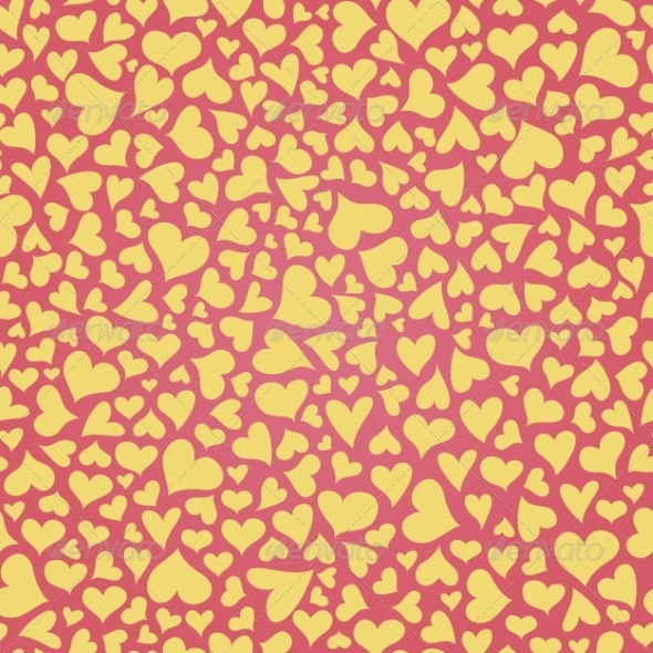 GraphicRiver Seamless Pattern with Hearts 8490623