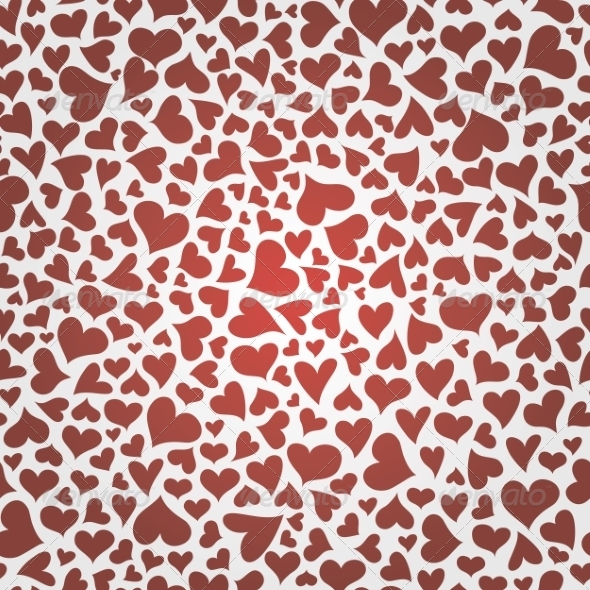 GraphicRiver Seamless Pattern with Hearts 8490710