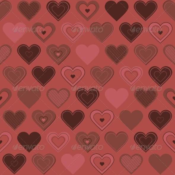 GraphicRiver Seamless Pattern with Hearts 8490729