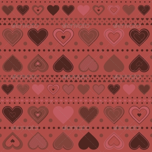 GraphicRiver Seamless Pattern with Hearts 8490734