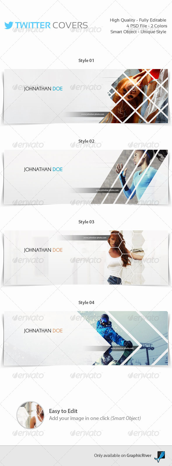 GraphicRiver 4 Twitter Covers 8490735