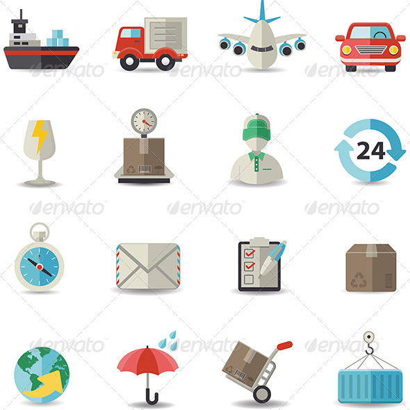 GraphicRiver Logistic Shipping and Transportation Icons 8490889