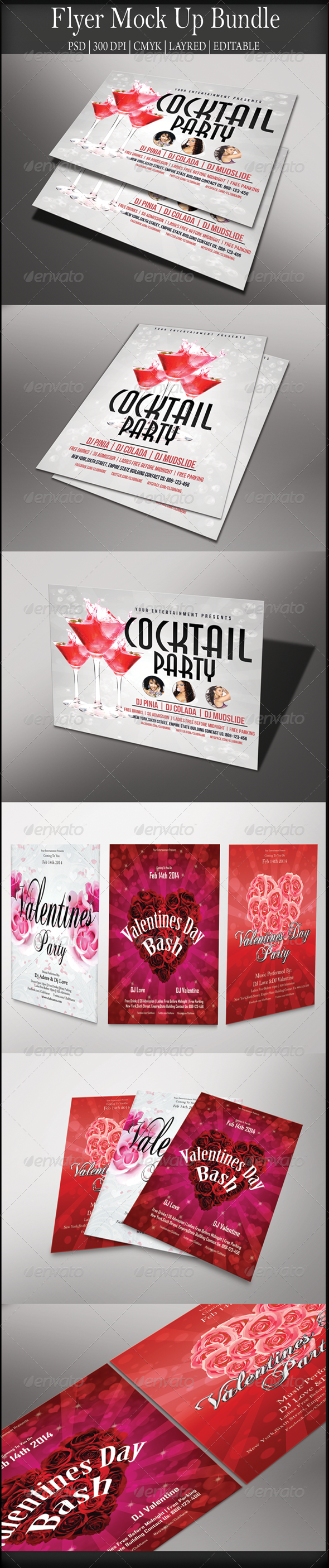 GraphicRiver Flyer Mock Up Bundle 8490898