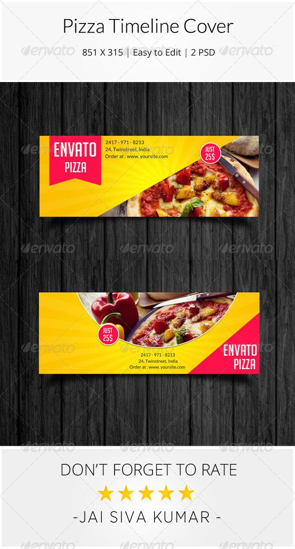 GraphicRiver Pizza Facebook Timeline Cover 8491022