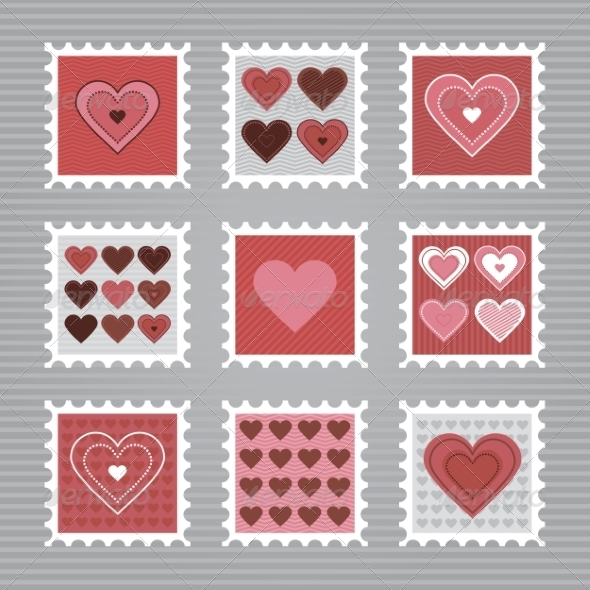 GraphicRiver Happy Valentine s Day Stamps 8491035