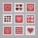 Happy Valentine's Day Stamps - GraphicRiver Item for Sale