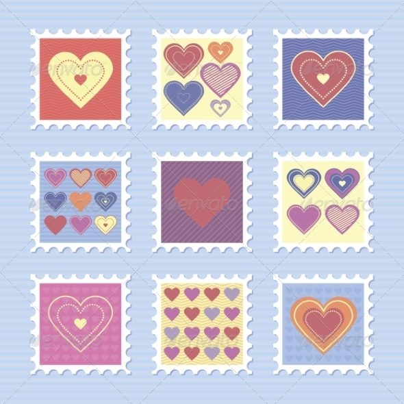 GraphicRiver Happy Valentine s Day Stamps 8491037
