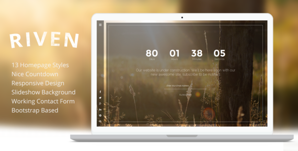 ThemeForest Riven Responsive Coming Soon Template 8491090