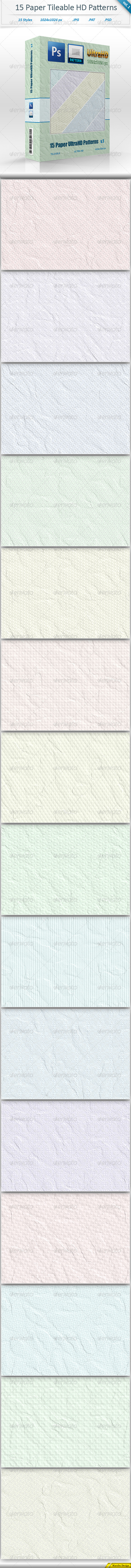 GraphicRiver Textured Paper Tileable Patterns vol 1 8491097