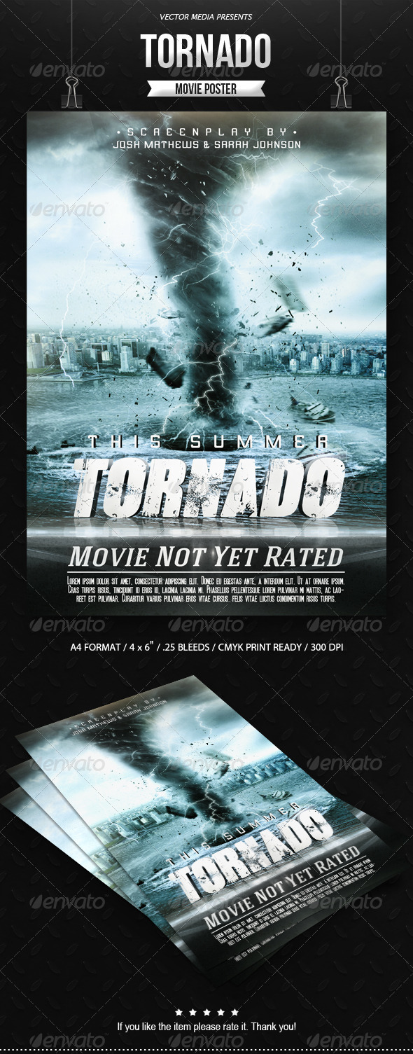 GraphicRiver Tornado Movie Poster 8491098