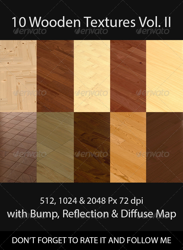 10 Wooden Floor Tileable Texture Vol II