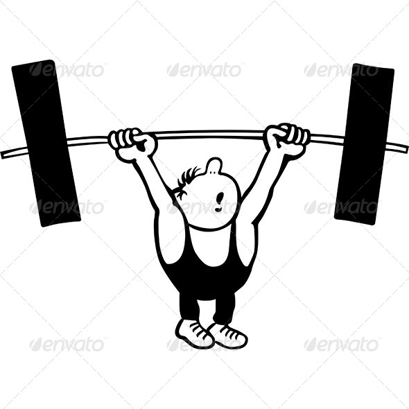 GraphicRiver Comic Weightlifter 8491156