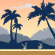 Tileable Tropical Game Background - GraphicRiver Item for Sale