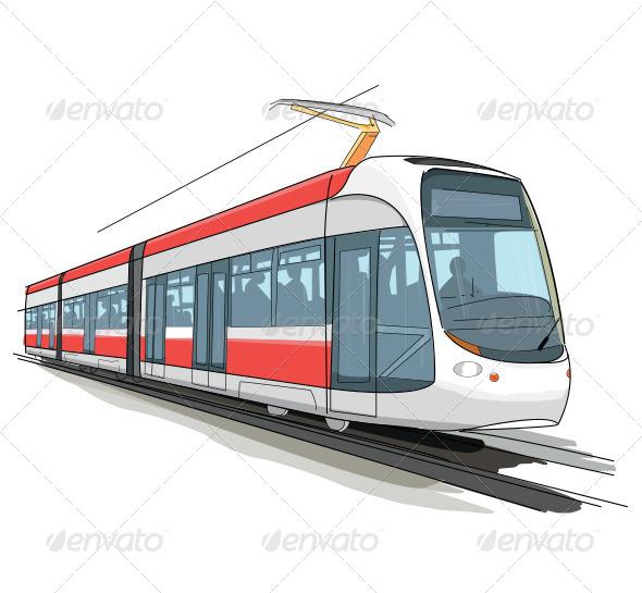 GraphicRiver Colorful Tram 8491482