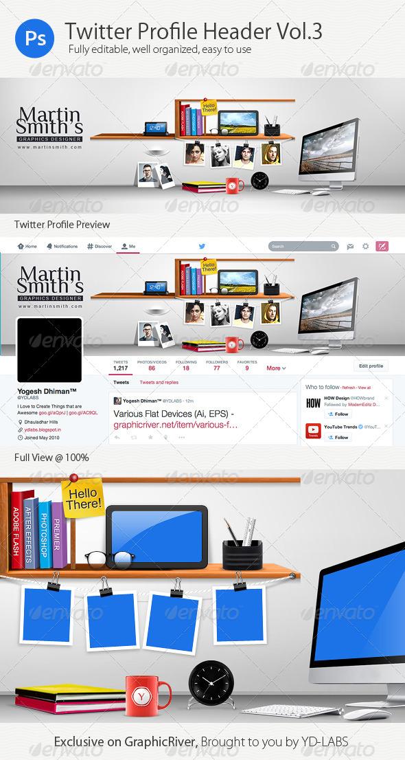 GraphicRiver Twitter Profile Header V3 8491502