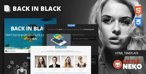 Back in Black | Responsive One Page Template
