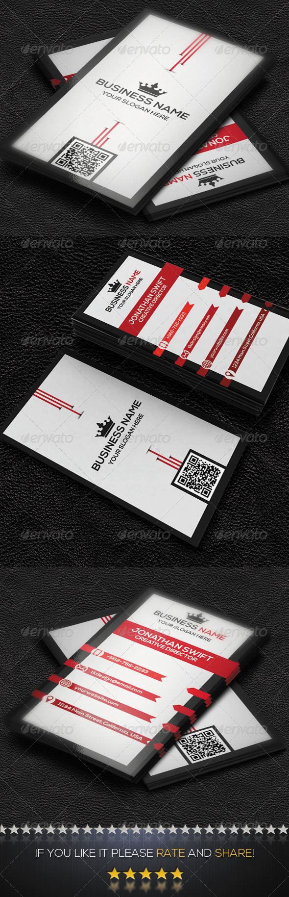 GraphicRiver Vertical Business Card No.02 8492160