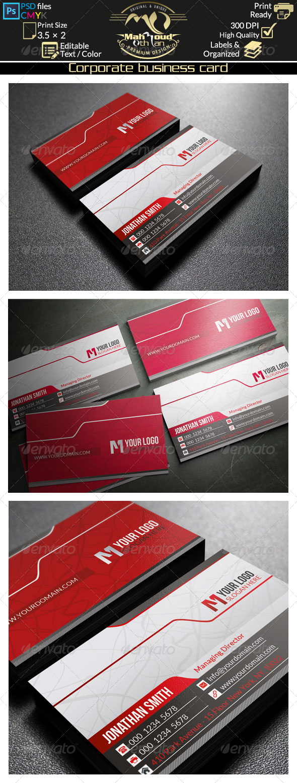 GraphicRiver Corporate Business Card 39 8492164