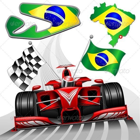 GraphicRiver Formula 1 Red Race Car GP Brazil 8492187