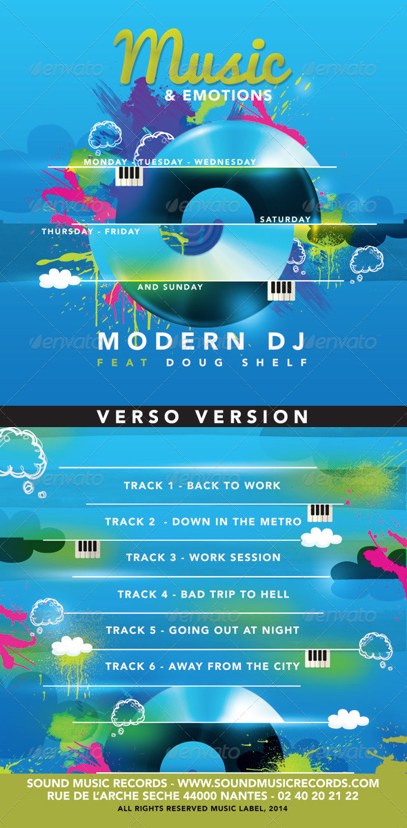 GraphicRiver Everyday Modern Music And Emotions Cd Cover 8492441