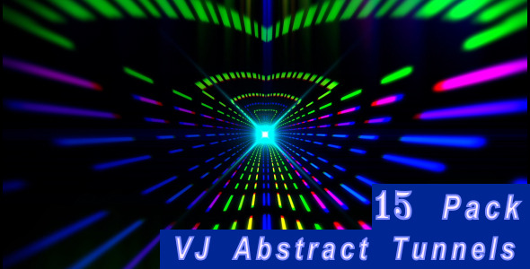 VJ Abstract Tunnels 15 Pack