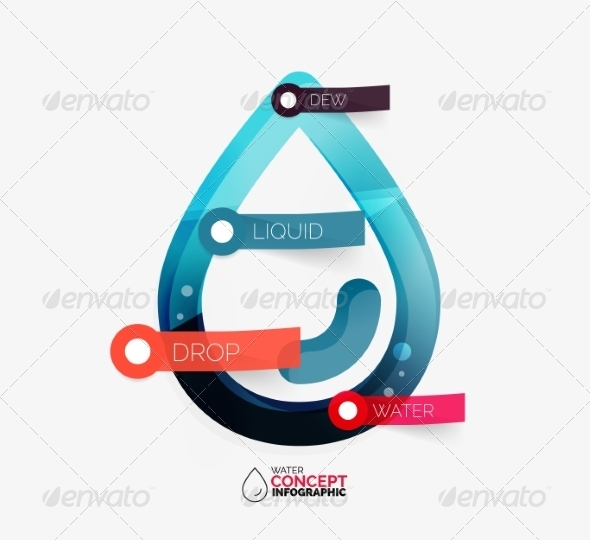 GraphicRiver Water Drop Info Layout Concept 8492660