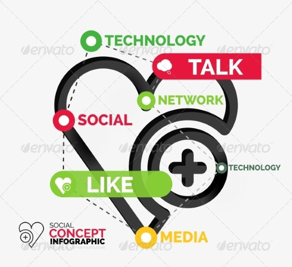 GraphicRiver Social Like Infographic Keywords 8492662
