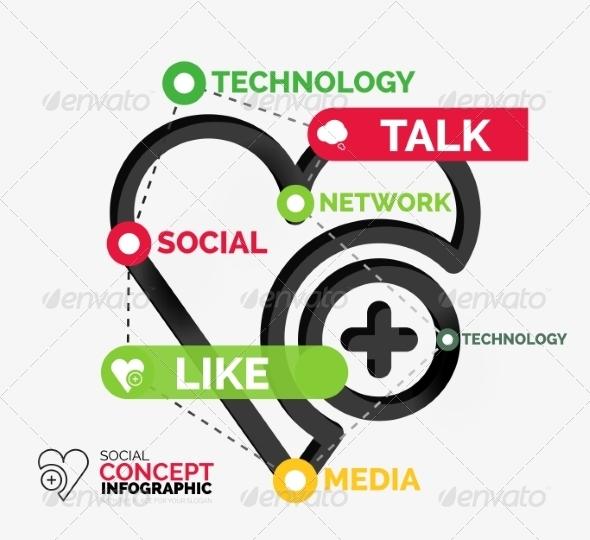 GraphicRiver Social Like Infographic Keywords 8492662